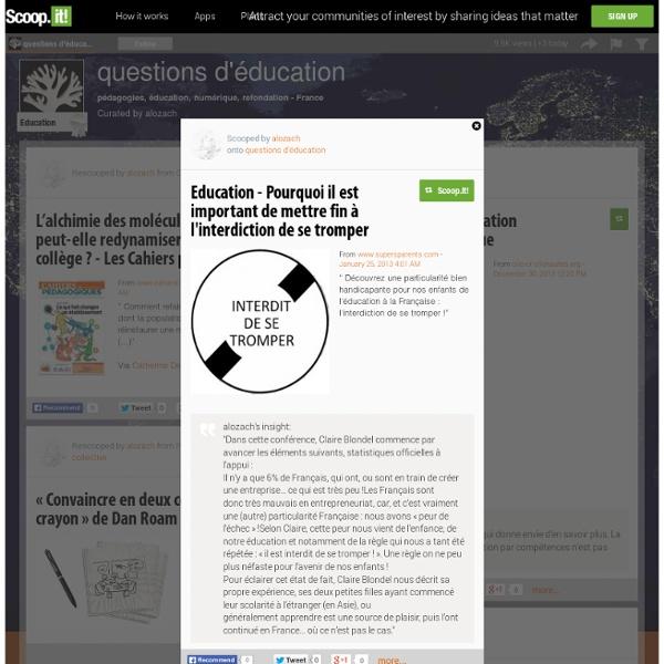 Education - Pourquoi il est important de mettre fin à l'interdiction de se tromper