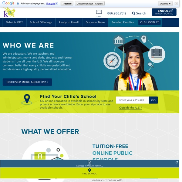 Online Public School, Online High School, Online Private School, Homeschooling, and Online Courses options
