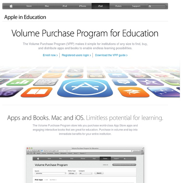 In Education - IT - Volume Purchase Program