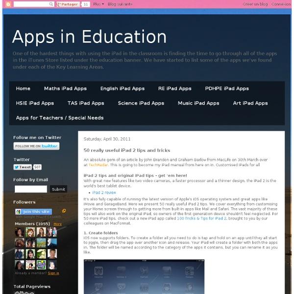 50 really useful iPad 2 tips and tricks