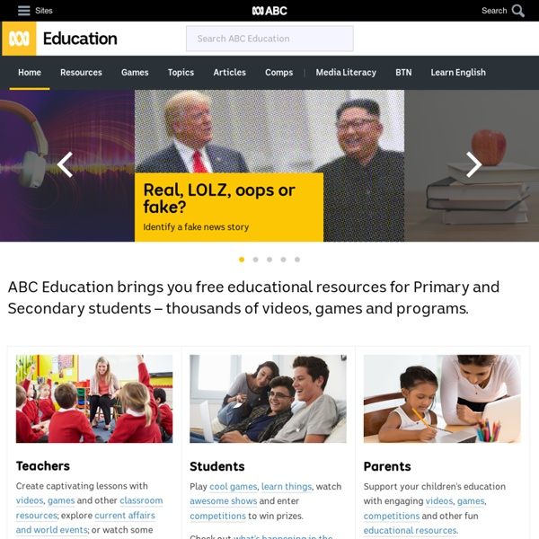 Home - Resources for Primary and Secondary - ABC Education