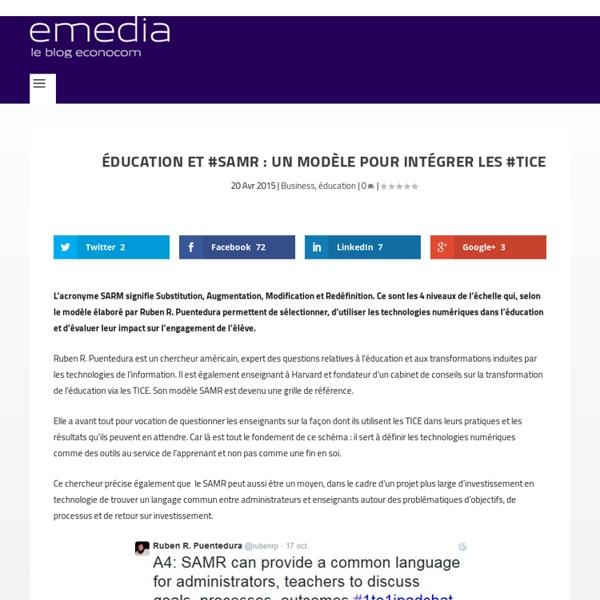 Éducation et #SAMR : un modèle pour intégrer les #TICE