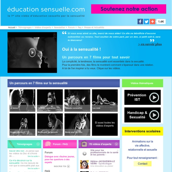 Education sensuelle - Accueil