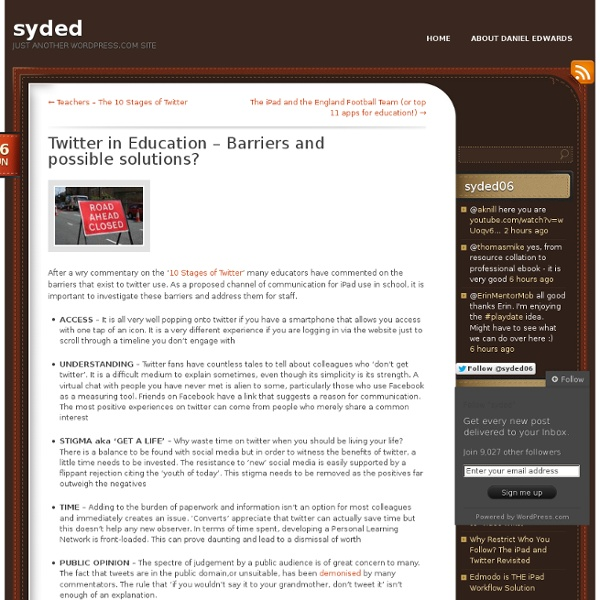 Twitter in Education – Barriers and possible solutions?
