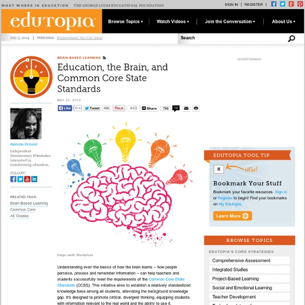 Education, the Brain and Common Core State Standards