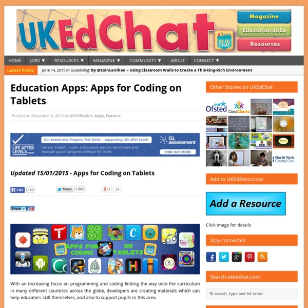 Education Apps – Apps for Coding on Tablets