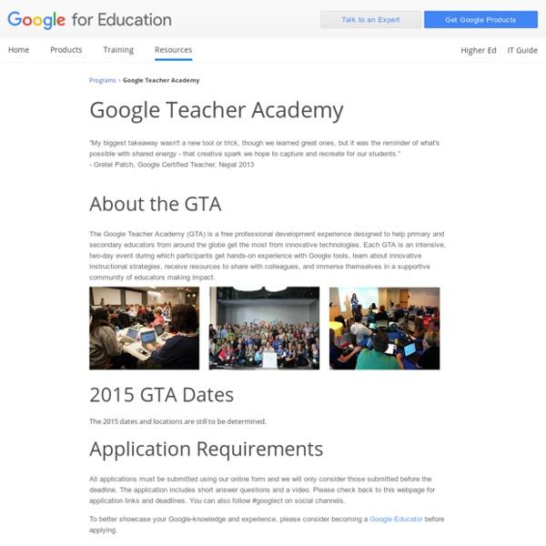 For Education: Google Teacher Academy