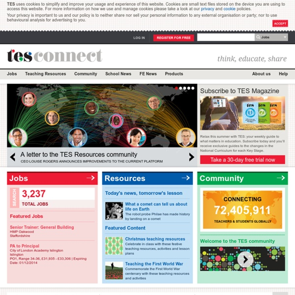 The TES - Education Jobs, Teaching Resources, Magazine & Forums