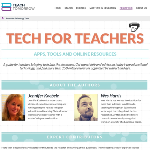 Education Technology Tools for Teachers