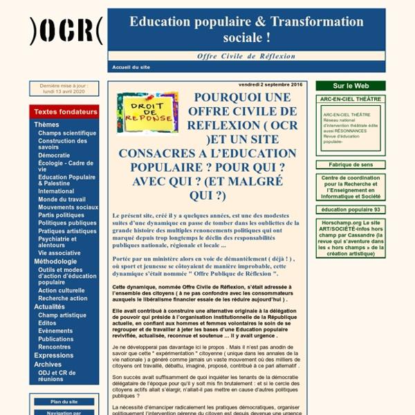 [Education populaire & Transformation sociale!]