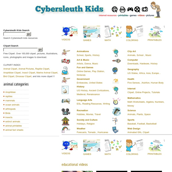 CyberSleuth Kids.com :Educational Resources and Student Homework Helper