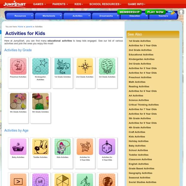 Educational Activities – Online Educational Activities for Kids
