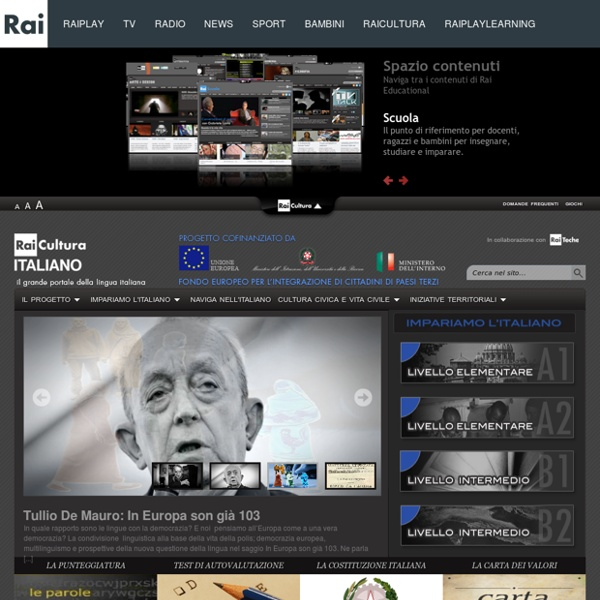 Il portale di RAI Educational per l'apprendimento della lingua Italiana e dei valori civici