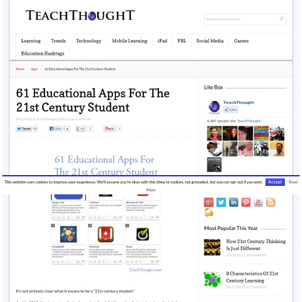 61 Educational Apps For The 21st Century Student