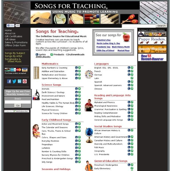 Educational Songs & Children's Music from Songs for Teaching®