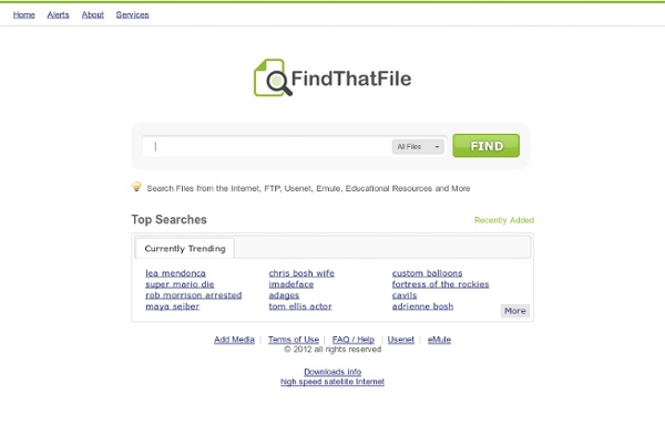Search for files on the Internet - findthatfile.com