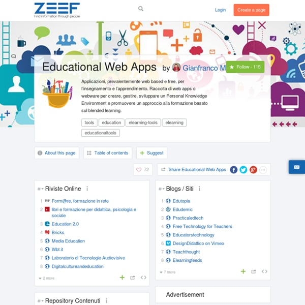 Educational Web Apps by Gianfranco Marini