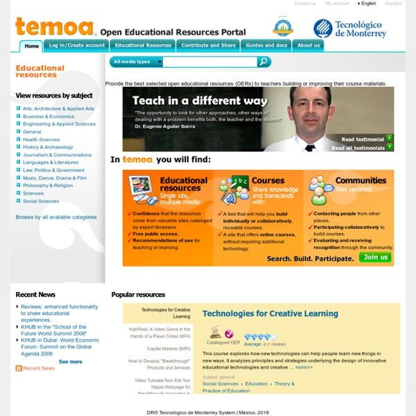 Temoa : Open Educational Resources (OER) Portal