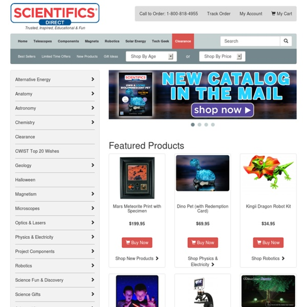 Edmund Scientifics: educational toys, gifts, hobby supplies & science equipment