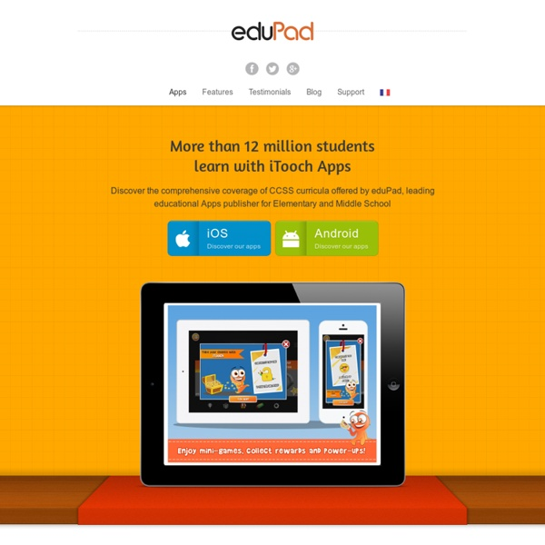 Applications éducatives pour tablettes et smartphones - eduPadeduPad