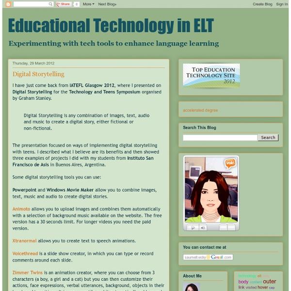Educational Technology in ELT: Digital Storytelling
