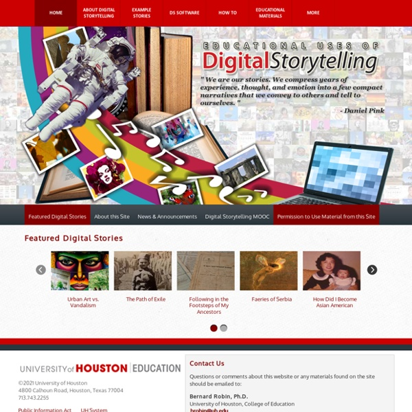 Educational Uses of Digital Storytelling