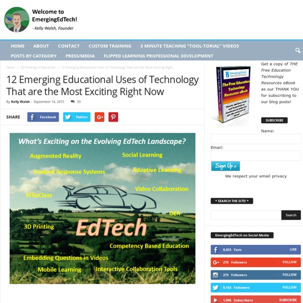 12 Emerging Educational Uses of Technology That Are Most Exciting Right Now