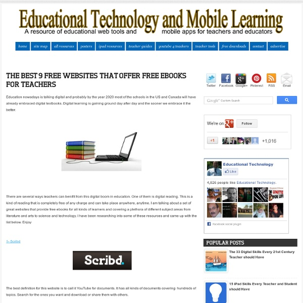 The Best 9 Free Websites That Offer Free eBooks for Teachers