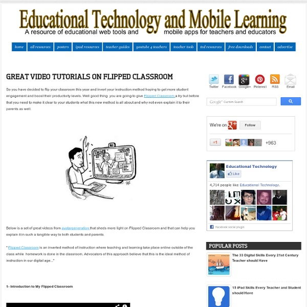 Great Video Tutorials on Flipped Classroom