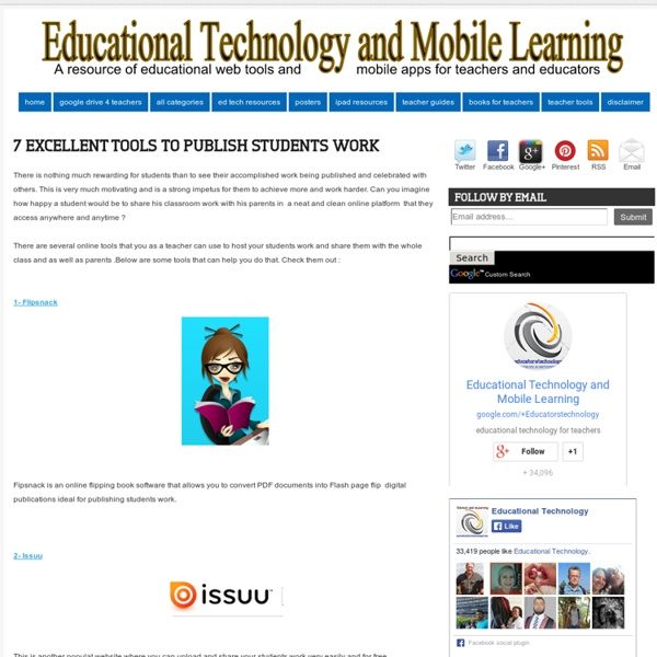 7 Excellent Tools to Publish Students Work