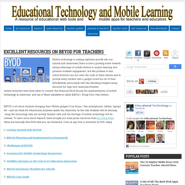 Excellent Resources on BYOD for Teachers