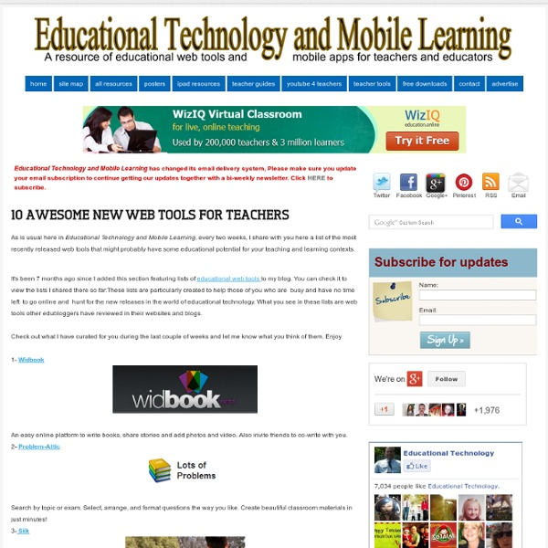 10 Awesome New Web Tools for Teachers