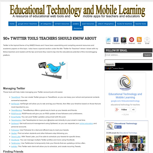 90+ Twitter Tools Teachers Should Know about