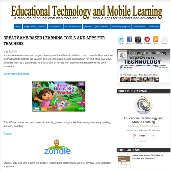 Game-based Learning Tools a...