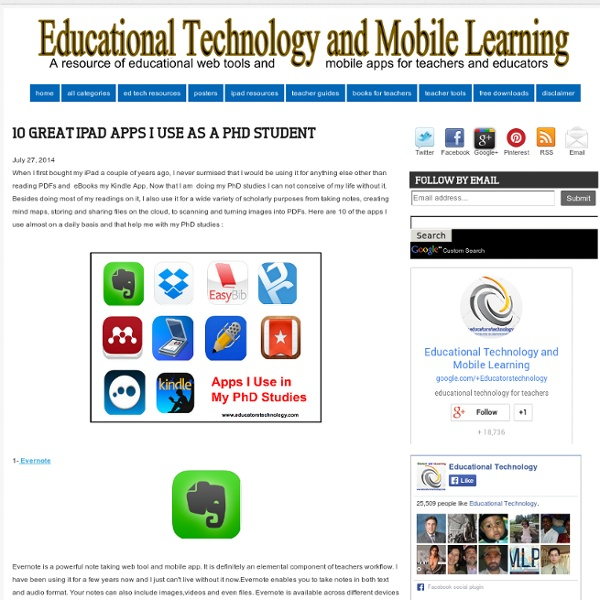 10 Great iPad Apps I use As A PhD Student