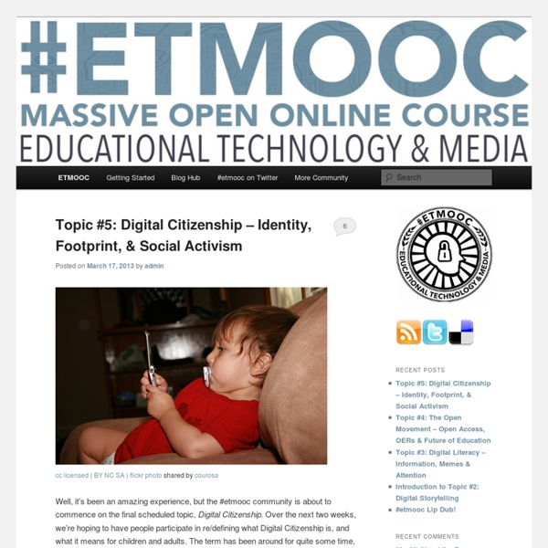 A MOOC about educational technology & media – Coming January 2013