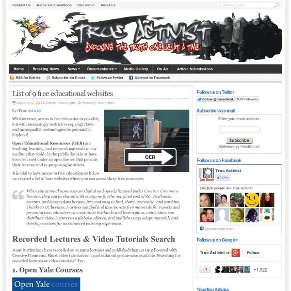 List of 9 free educational websites