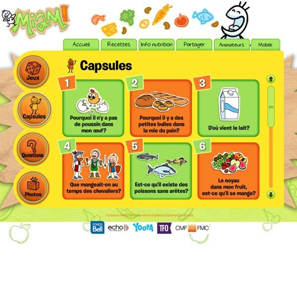 Capsules éducatives sur l'alimentation et la nourriture