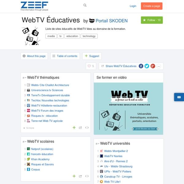 WebTV Éducatives by Portail SKODEN