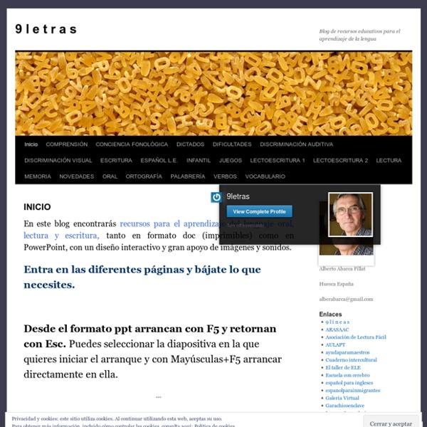 Blog de recursos educativos para el aprendizaje de la lengua
