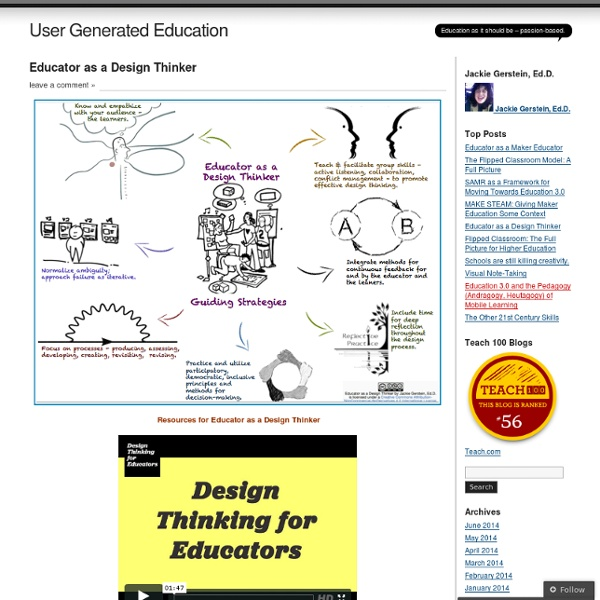 Educator as a Design Thinker