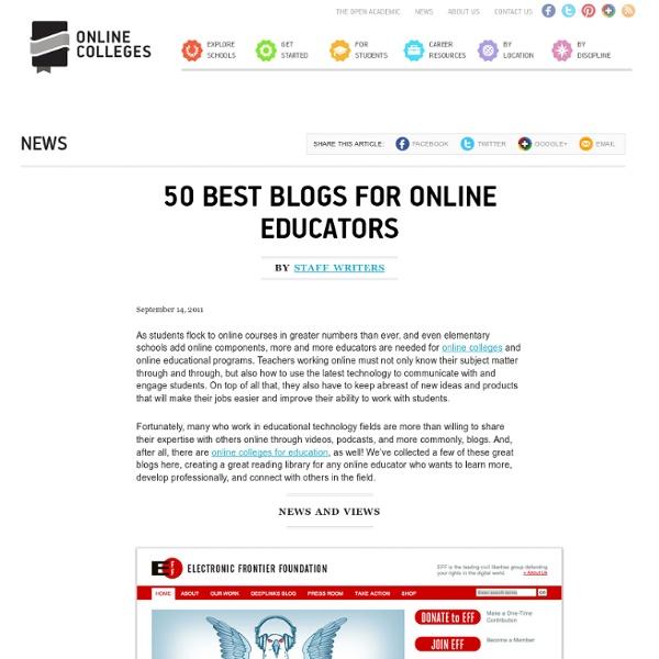 50 Best Blogs for Online Educators