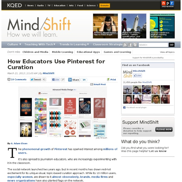 How Educators Use Pinterest for Curation