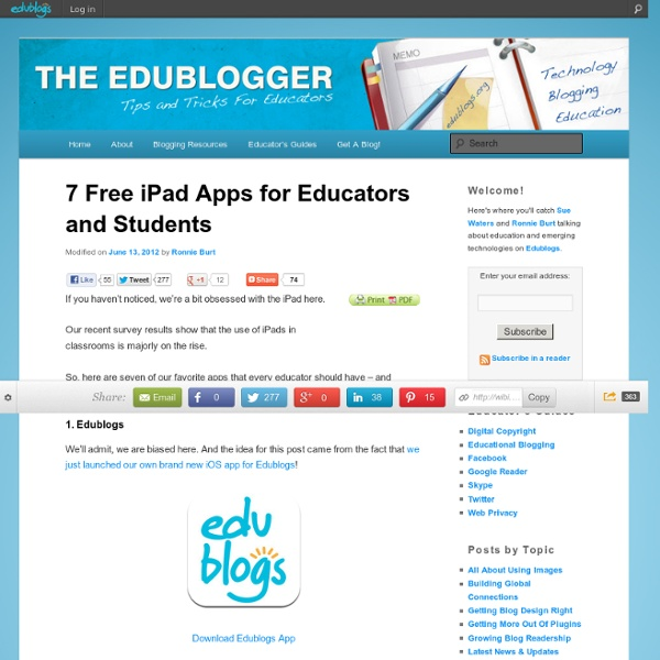 7 Free iPad Apps for Educators and Students