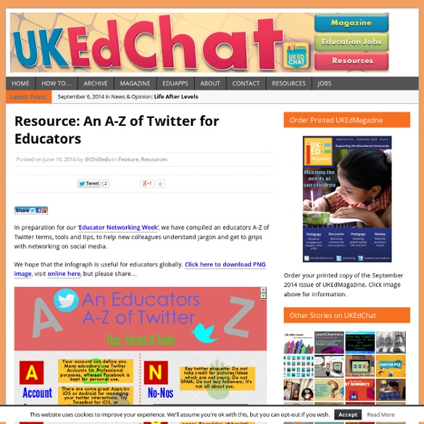 Resource: An A-Z of Twitter for Educators