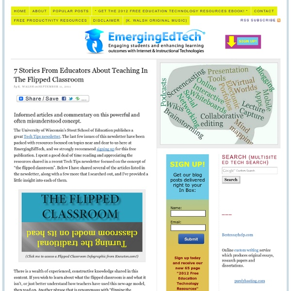 7 Stories From Educators About Teaching In The Flipped Classroom