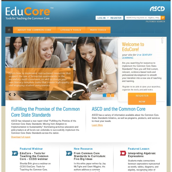 EduCore - Tools for Teaching the Common Core - ASCD