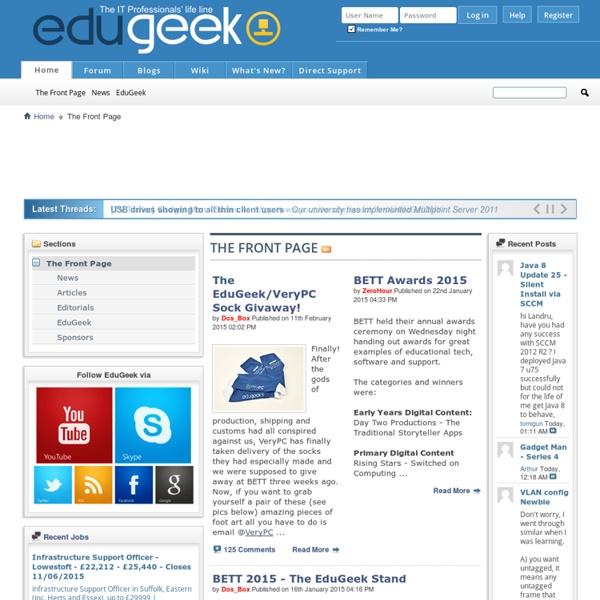 EduGeek.net - The I.T. Professionals' life line