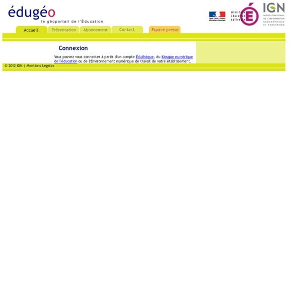 Édugéo, le portail de l'éducation