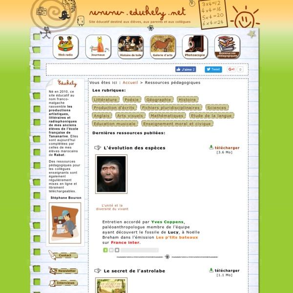 Site éducatif destiné aux parents, aux élèves et aux collègues